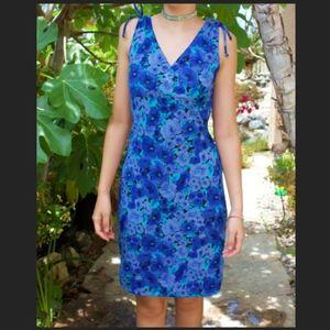 90s Vintage Blue Floral Dress
